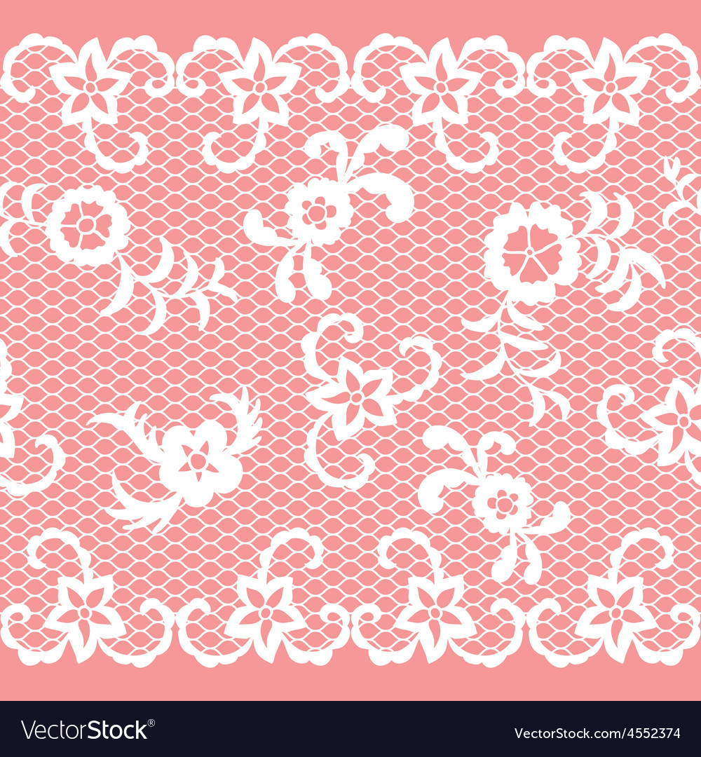 Seamless lace ribbon vector | Price: 1 Credit (USD $1)