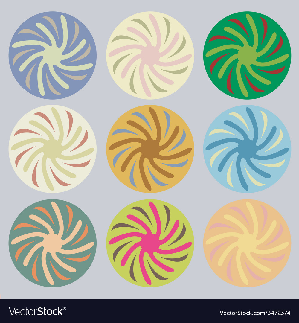 Set of colored circles vector | Price: 1 Credit (USD $1)