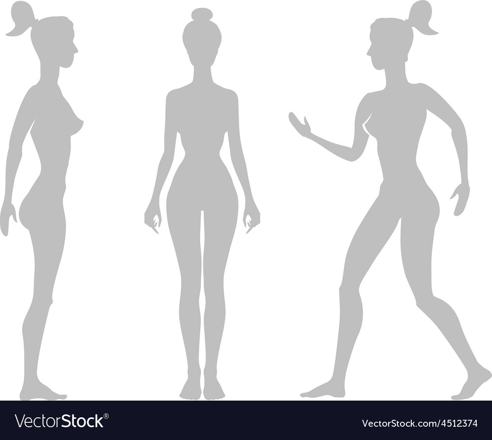Silhouette woman on a white background vector | Price: 1 Credit (USD $1)