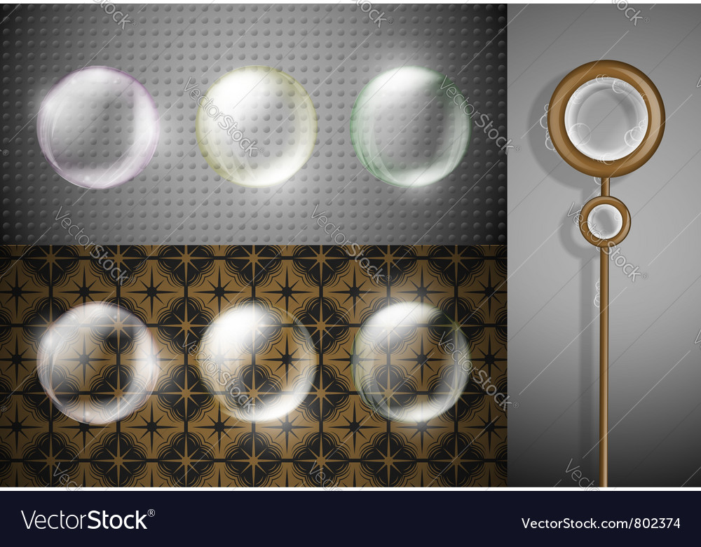 Soap bubbles set vector | Price: 1 Credit (USD $1)