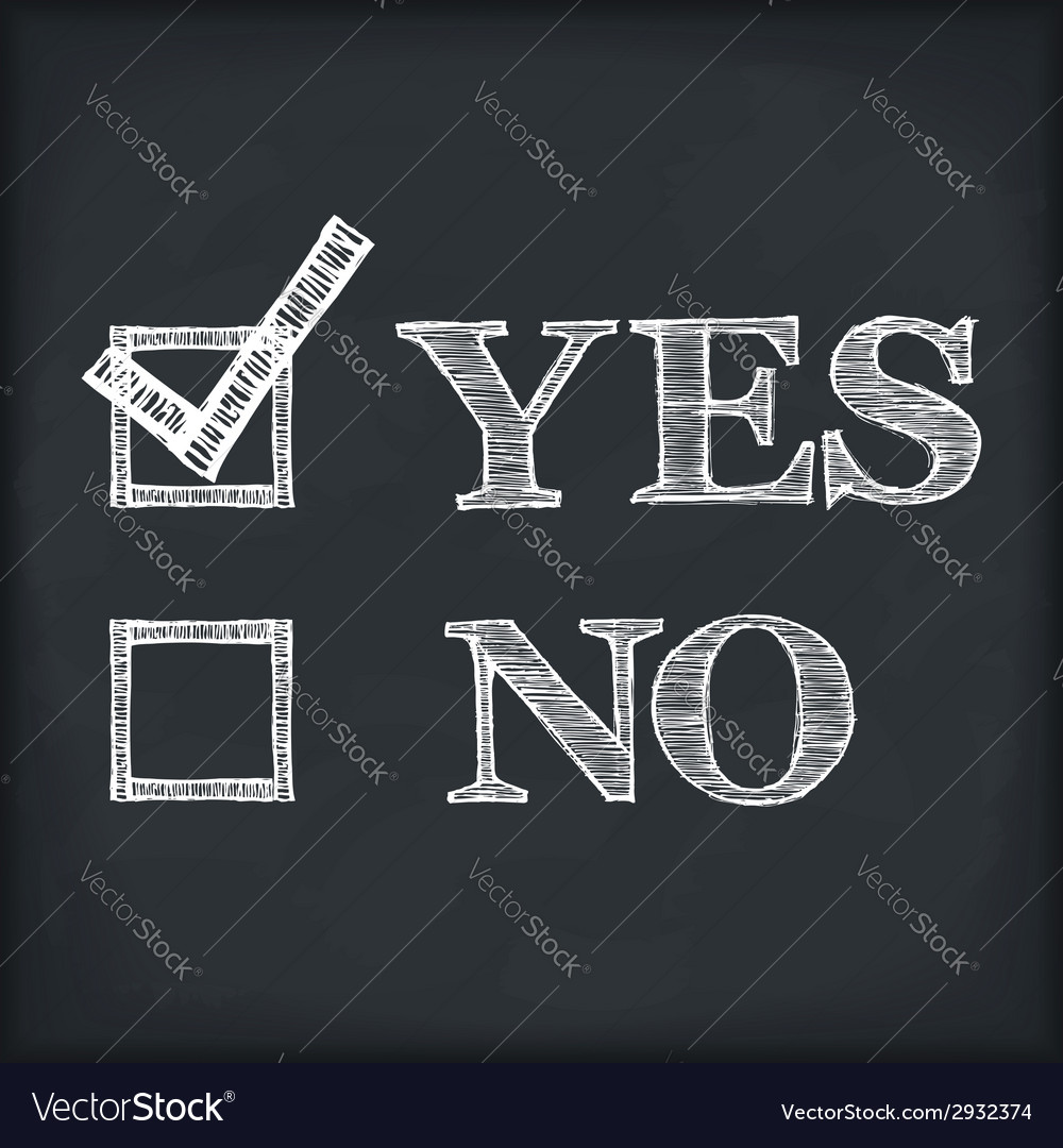 Yes and no vector | Price: 1 Credit (USD $1)