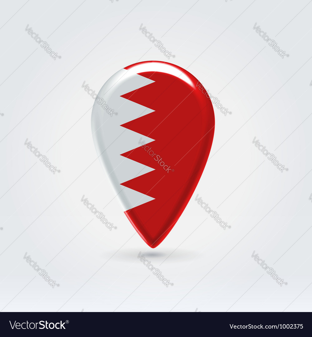 Bahrain icon point for map vector | Price:  Credit (USD $)