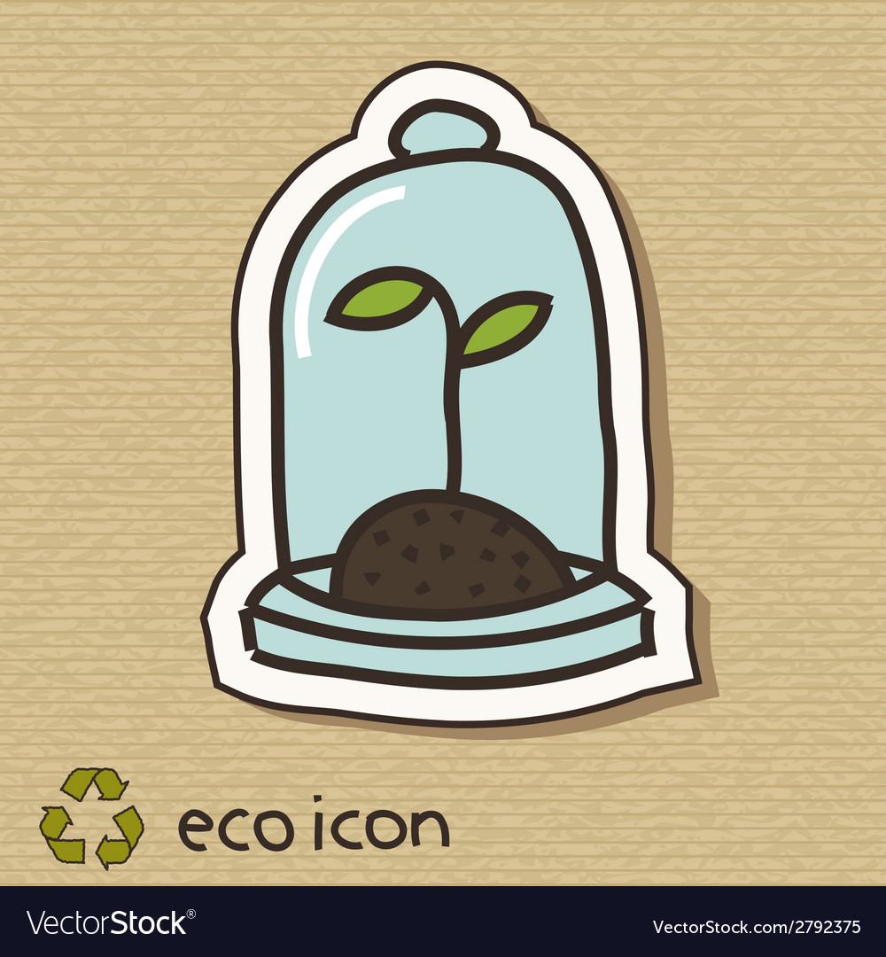 Eco concept on cardboard vector | Price: 1 Credit (USD $1)