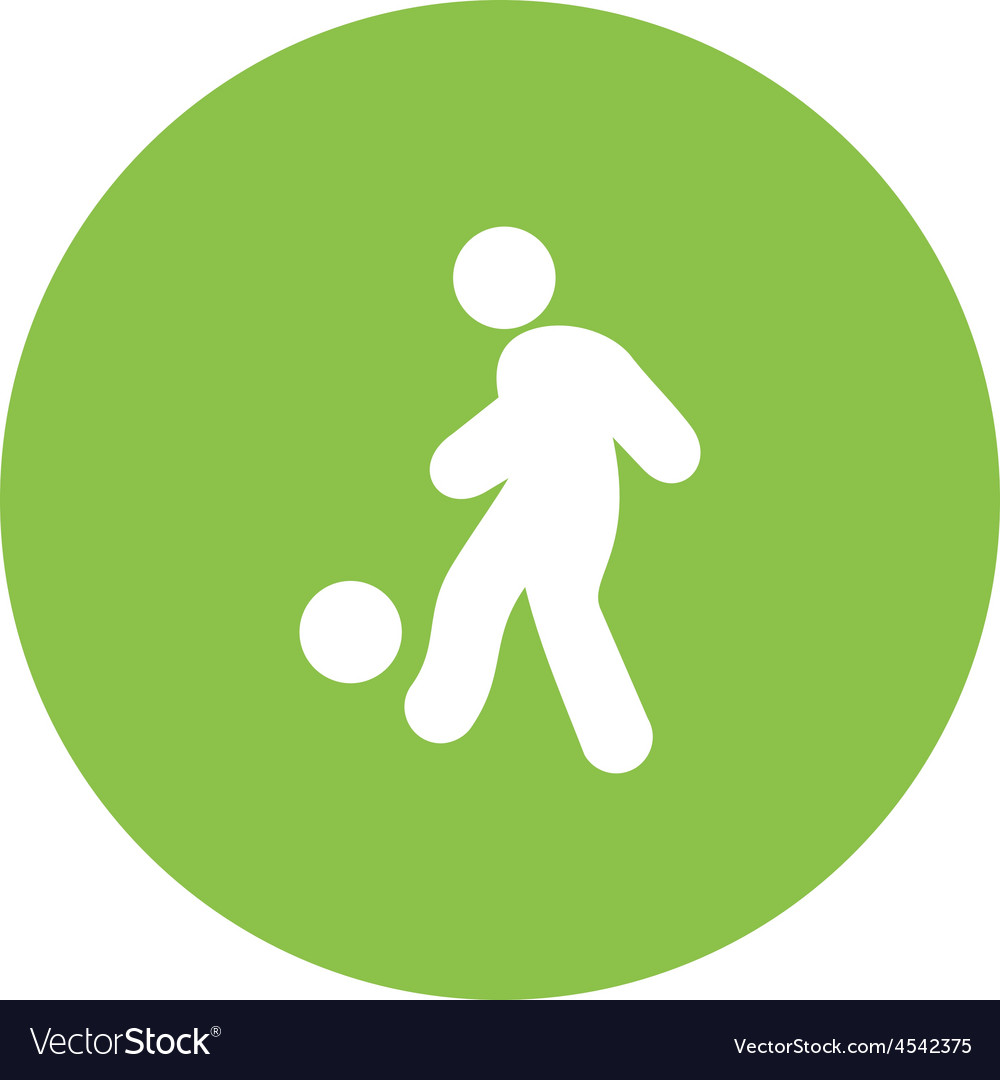 Football player vector | Price: 1 Credit (USD $1)