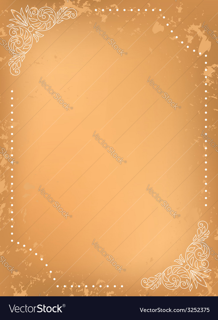 Grungy background with white decorative frame vector | Price: 1 Credit (USD $1)