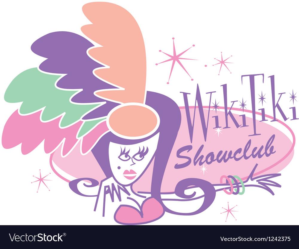 Las vegas showgirl signs vector | Price: 1 Credit (USD $1)