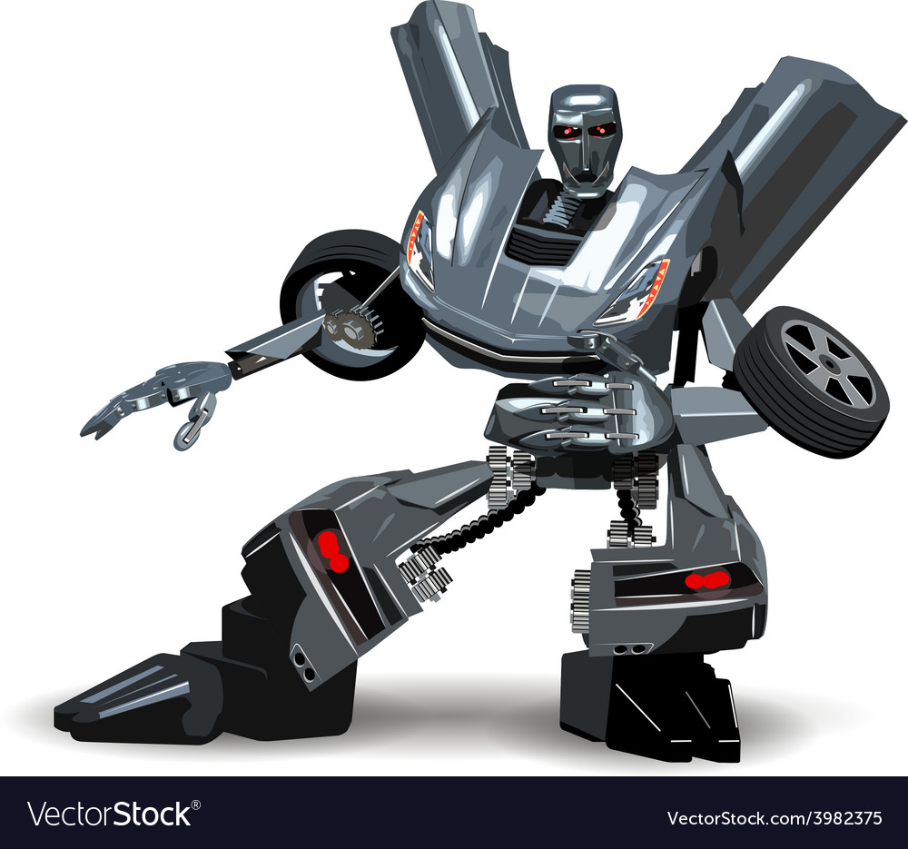 Robot car vector