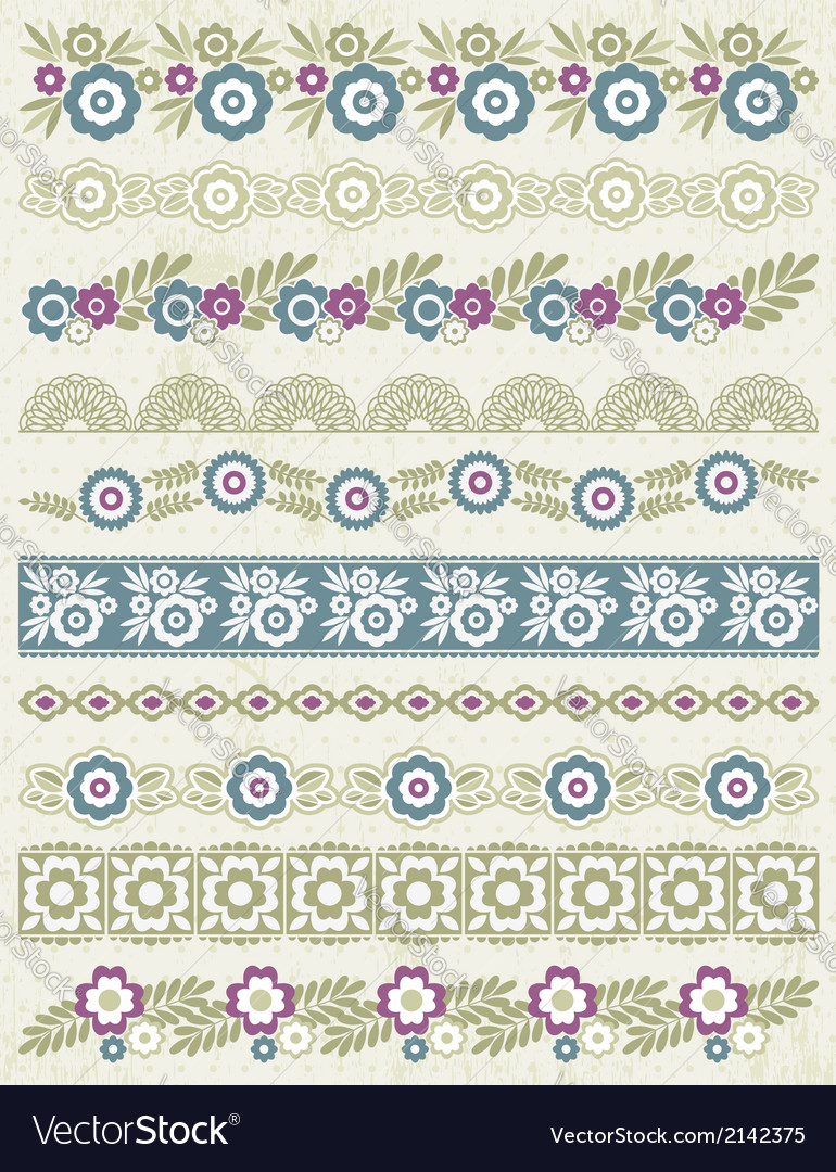 Set of lace paper with flower vector | Price: 1 Credit (USD $1)
