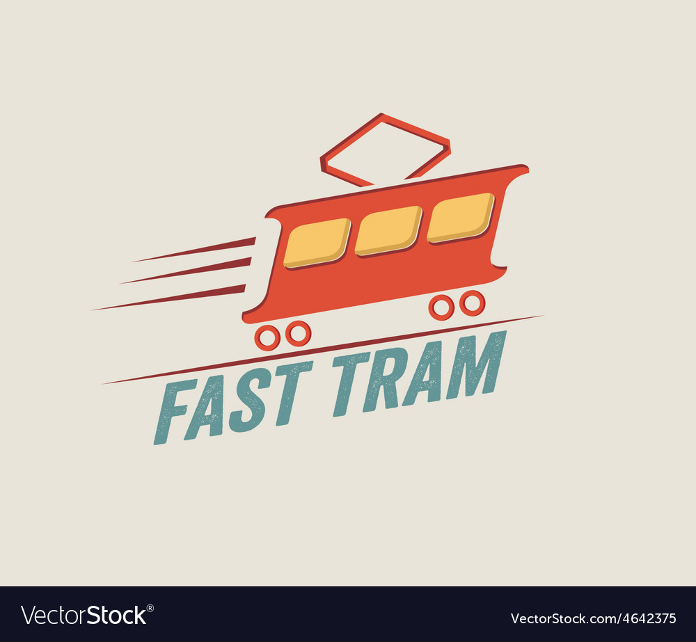 Vintage fast tram vector | Price: 1 Credit (USD $1)