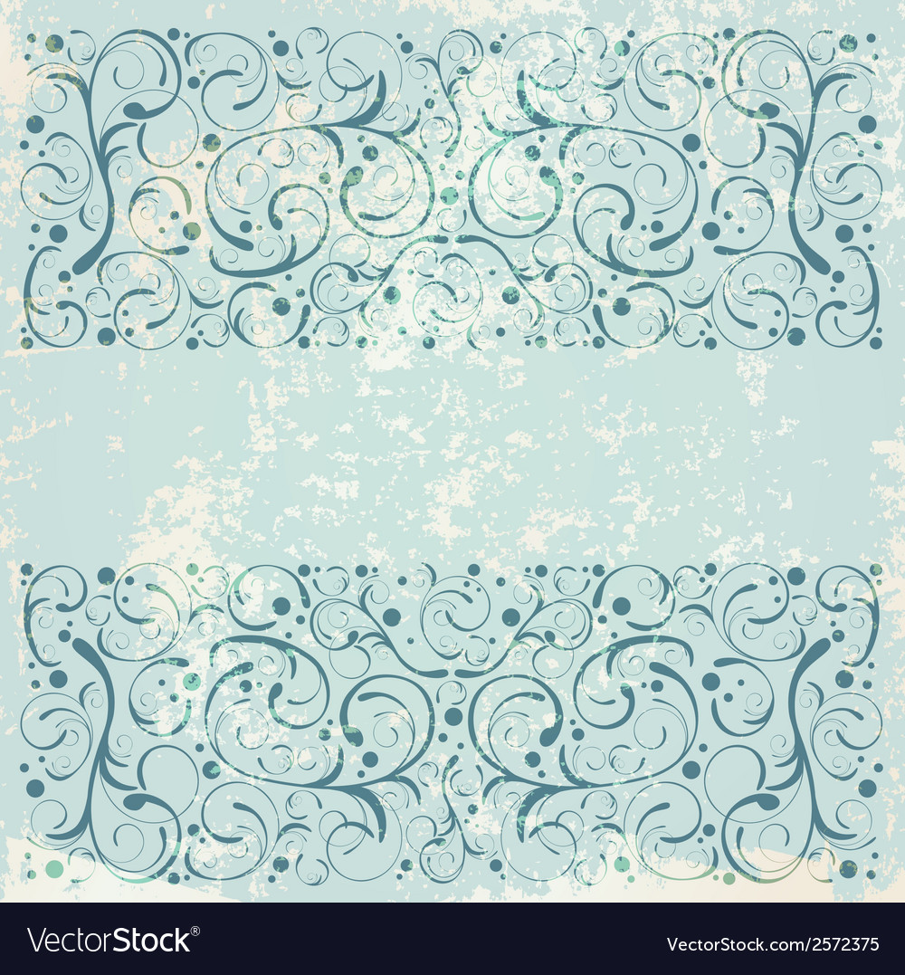 Vintage floral decorative background vector | Price: 1 Credit (USD $1)