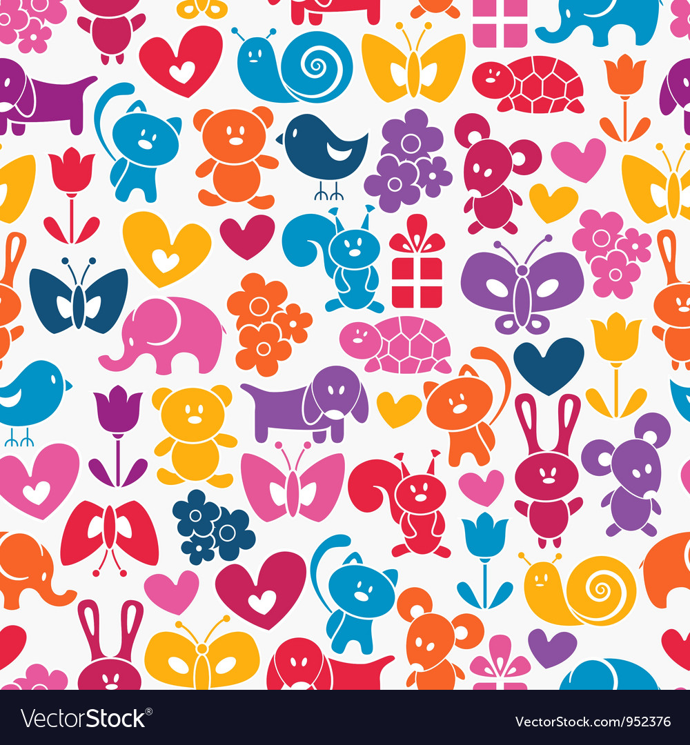 Baby seamless wallpaper vector | Price: 3 Credit (USD $3)