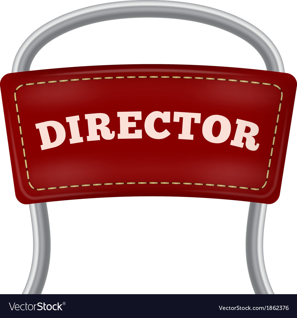 Back of the metal directorial chair vector | Price: 1 Credit (USD $1)