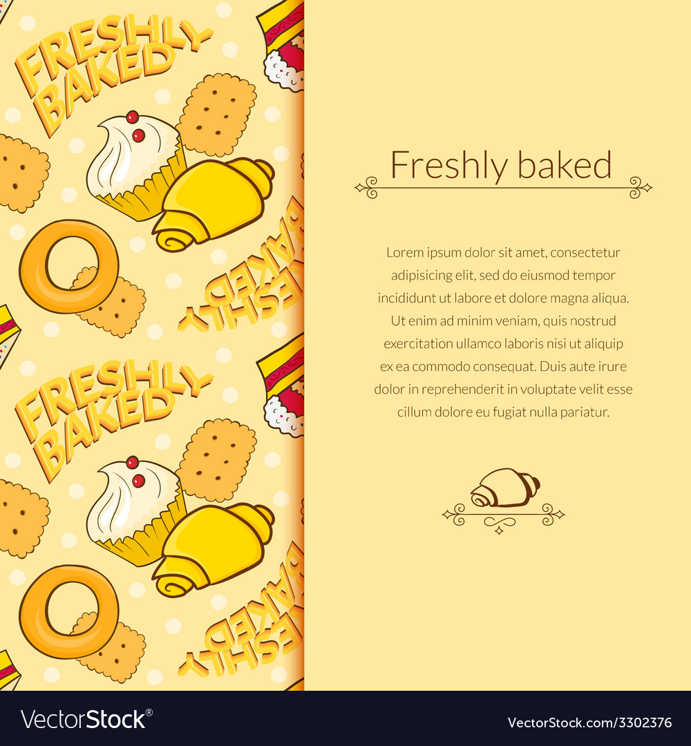 Bakery beautiful holiday background vector | Price: 1 Credit (USD $1)