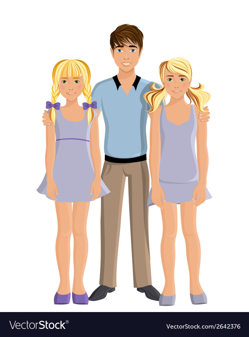 Brother and sisters vector | Price: 1 Credit (USD $1)