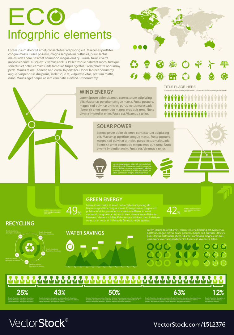Eco infographic elements vector | Price: 1 Credit (USD $1)