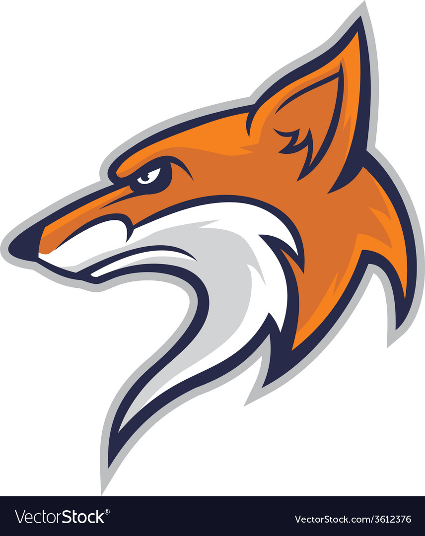 Fox head mascot vector | Price: 3 Credit (USD $3)
