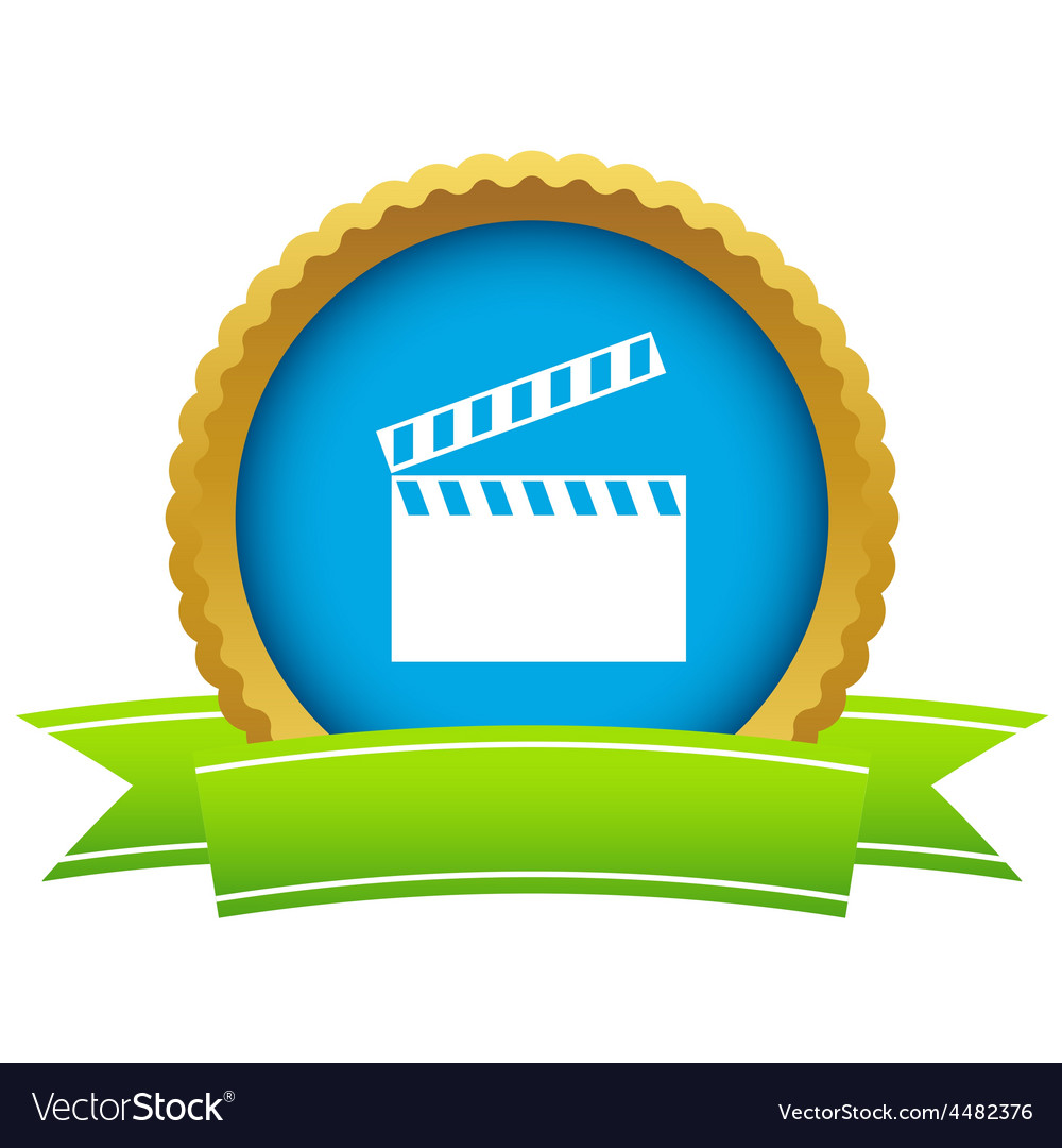 Gold cinema logo vector | Price: 1 Credit (USD $1)