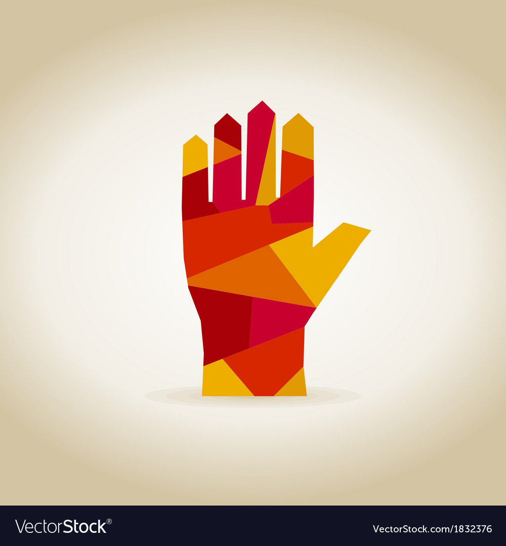 Hand abstraction vector | Price: 1 Credit (USD $1)