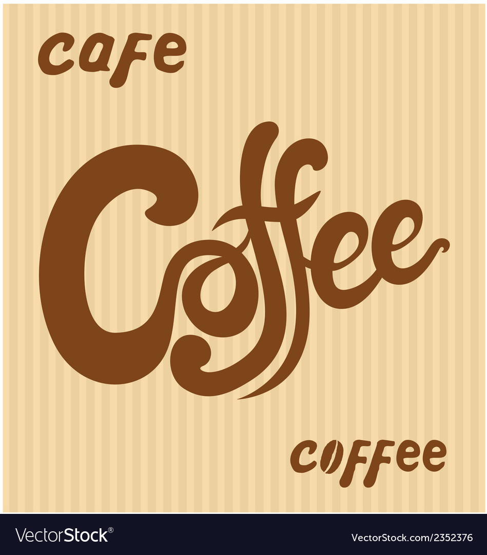 Hand drawn coffee signs vector | Price: 1 Credit (USD $1)