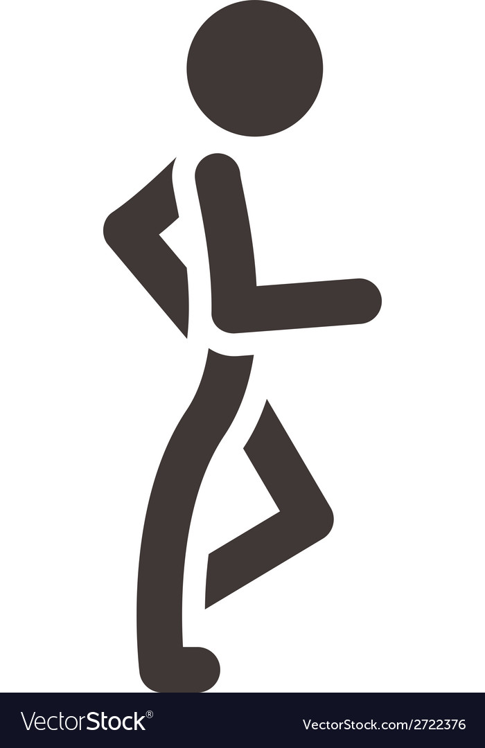 Heel and toe walk vector | Price: 1 Credit (USD $1)