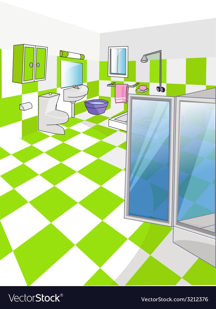 Home bathroom - interior design vector | Price: 1 Credit (USD $1)
