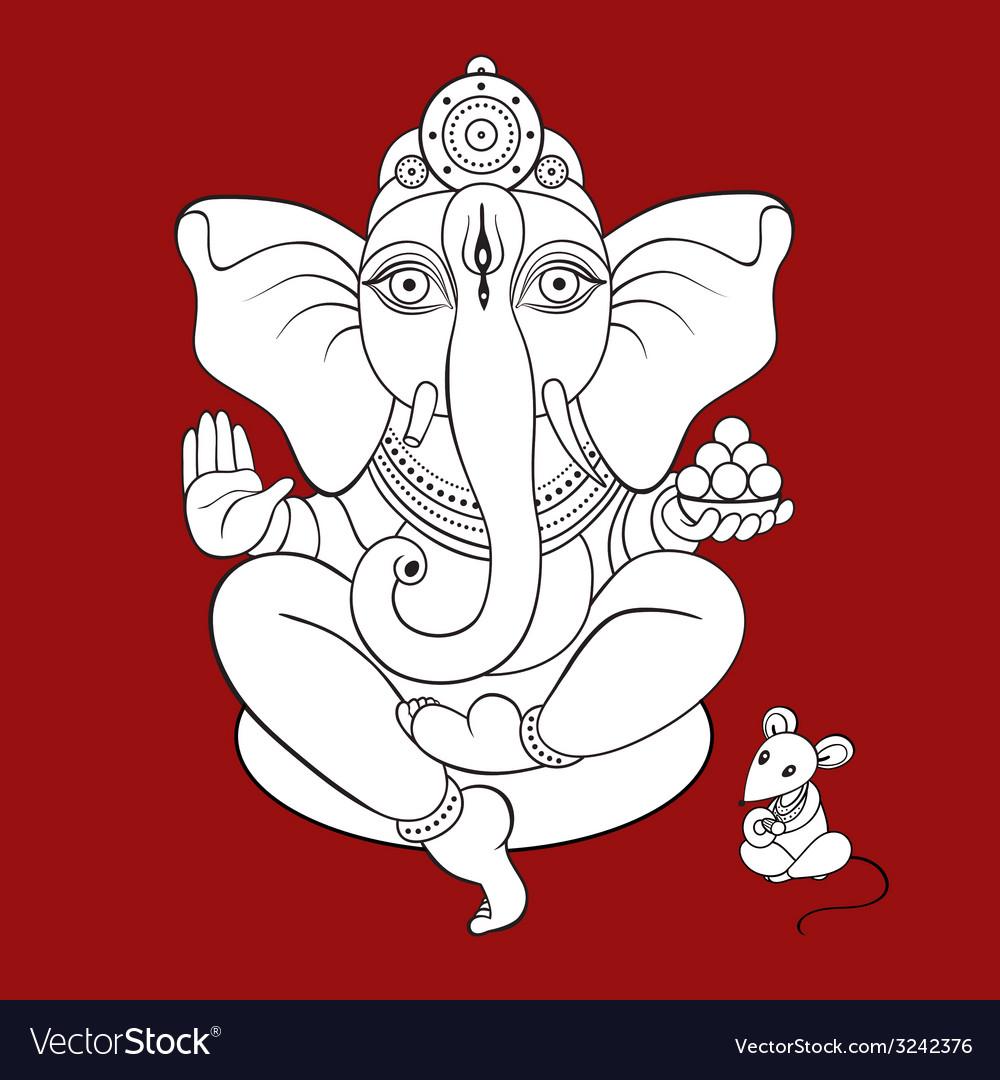 Lord ganesha hand drawn vector | Price: 1 Credit (USD $1)