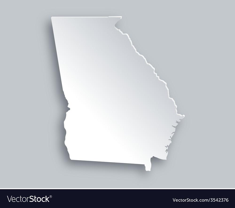 Map of georgia vector | Price: 1 Credit (USD $1)