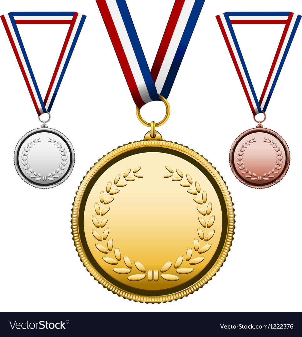Medals with blank face vector | Price: 3 Credit (USD $3)