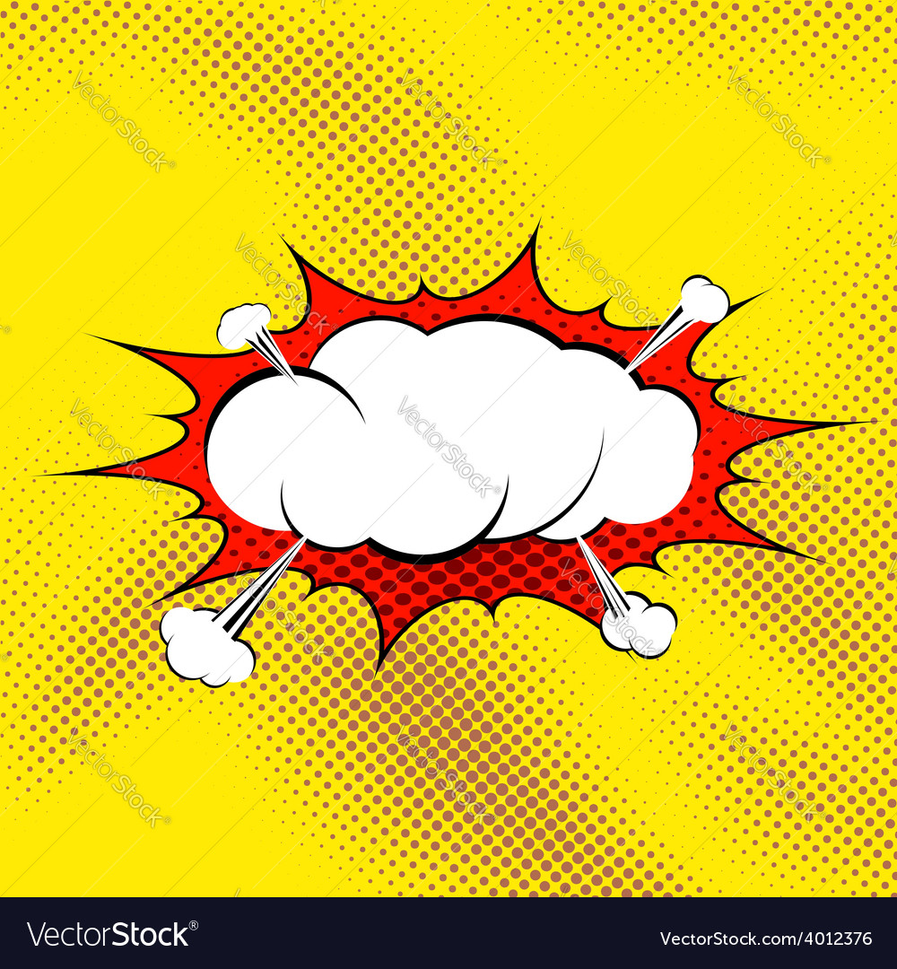 Retro comic book style pop art steam vector | Price: 1 Credit (USD $1)