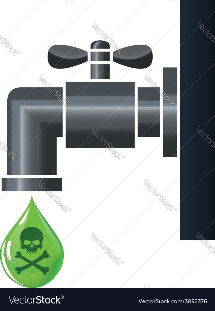 Water tap or faucet with poison drop vector | Price: 1 Credit (USD $1)