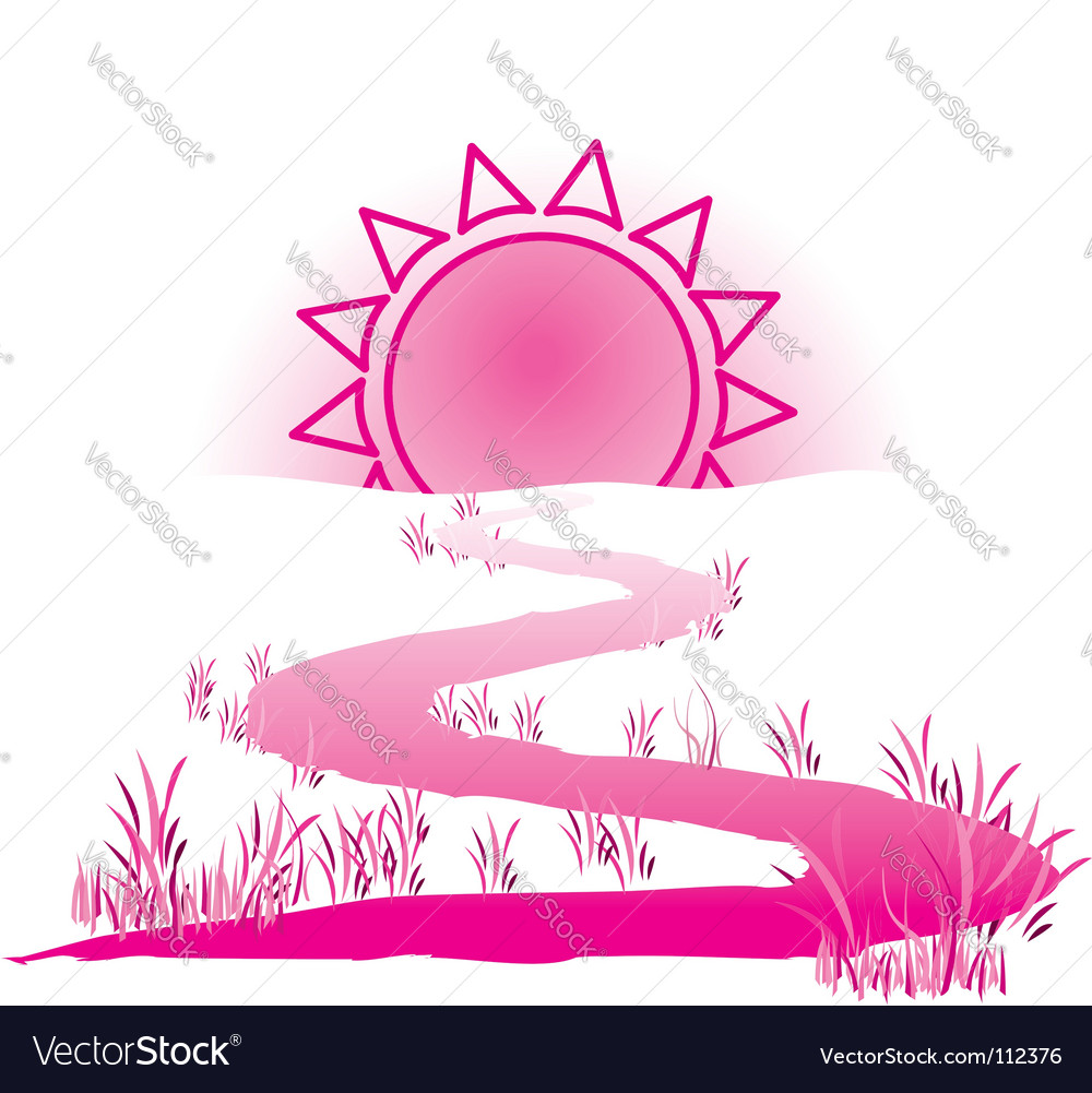 The way to the sun vector | Price: 1 Credit (USD $1)