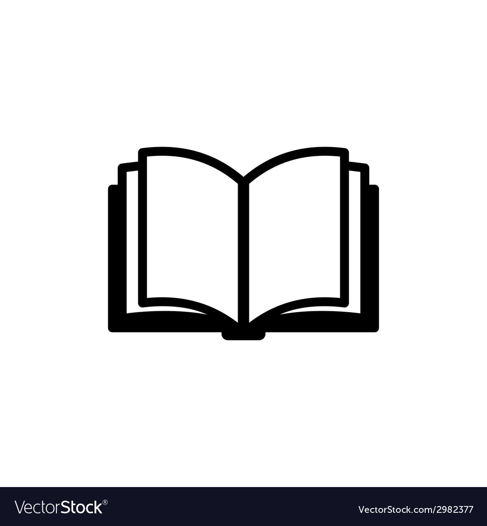 Book icon logo vector