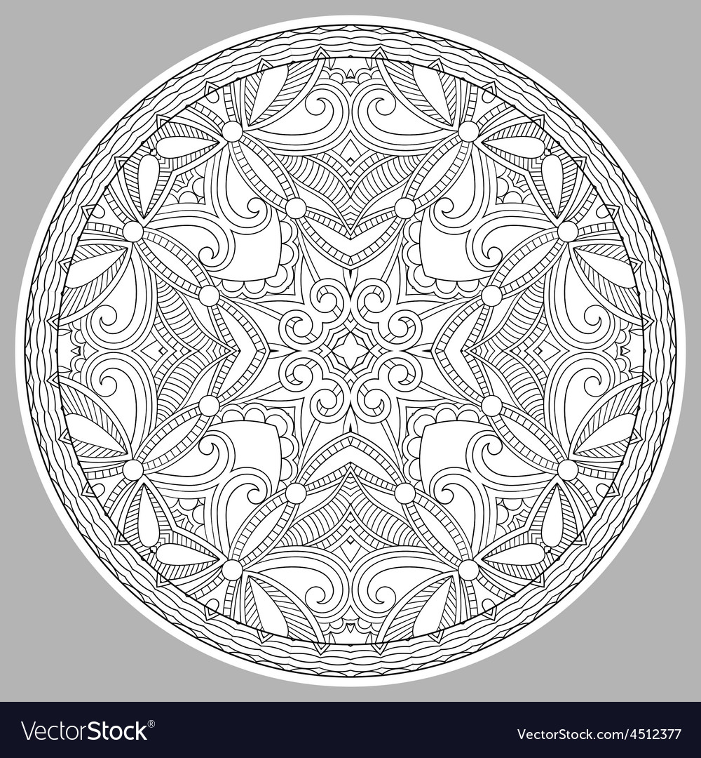 Coloring book page for adults - zendala vector   Price: 1 Credit (USD $1)