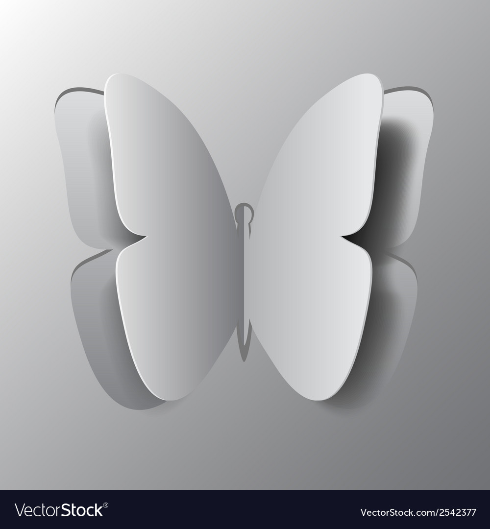 Concept of origami butterfly cut the paper vector | Price: 1 Credit (USD $1)