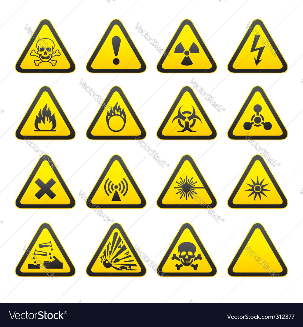Hazard signs vector | Price: 1 Credit (USD $1)