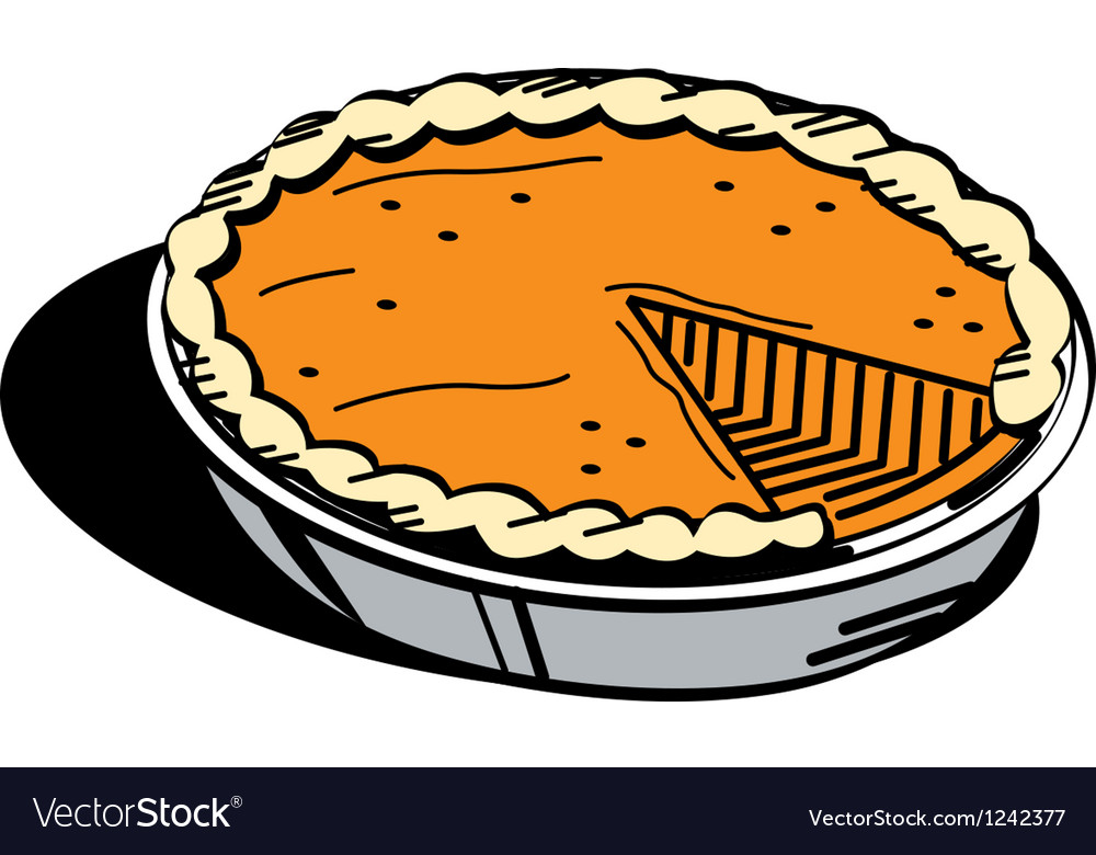Pumpkin pie vector | Price: 1 Credit (USD $1)