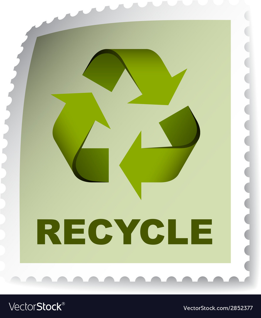 Recycle post stamp vector | Price: 1 Credit (USD $1)