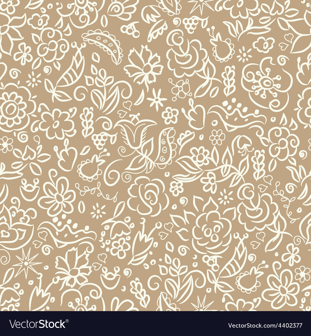Seamless with flowers vector | Price: 1 Credit (USD $1)