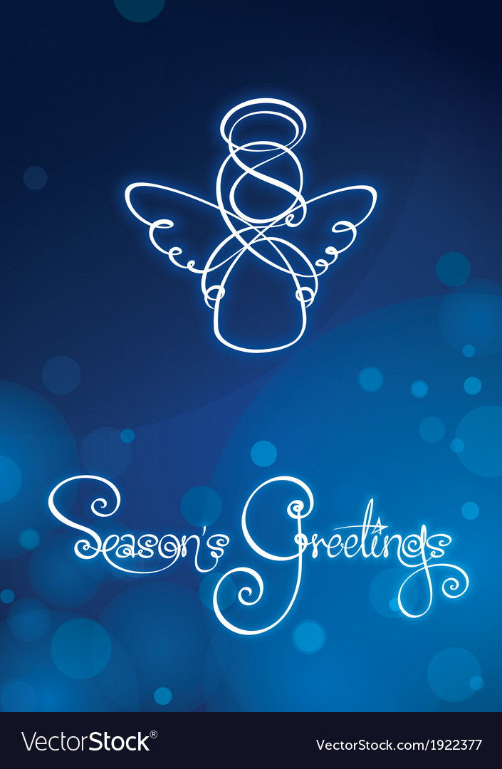 Seasons greetings card vector | Price: 1 Credit (USD $1)