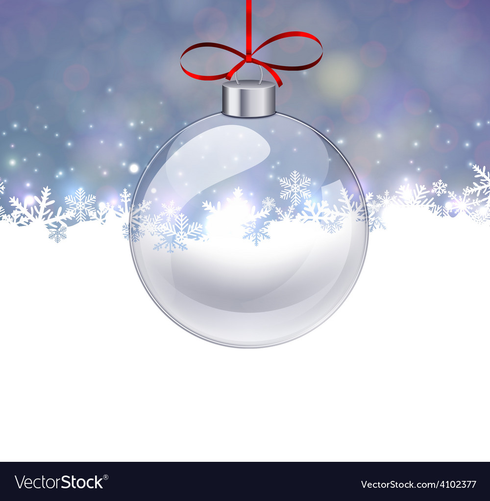 Silver christmas background with glass ball vector | Price: 1 Credit (USD $1)