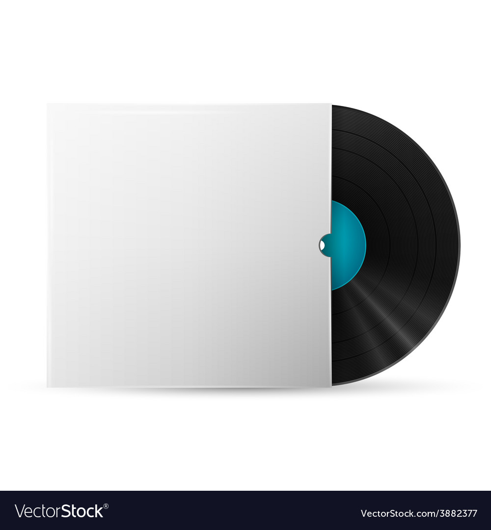 Vinyl record in a paper case vector   Price: 1 Credit (USD $1)