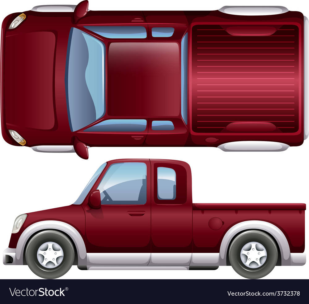 A pickup vehicle vector | Price: 1 Credit (USD $1)