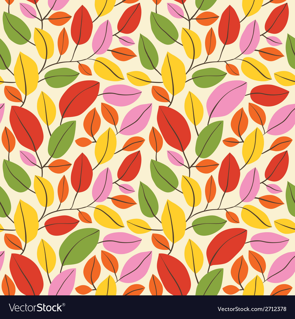 Autumn leaves seamless background vector | Price: 1 Credit (USD $1)