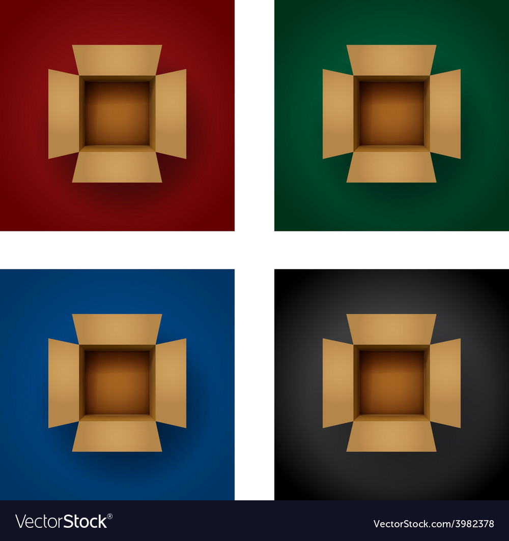 Box vertical set vector | Price: 1 Credit (USD $1)