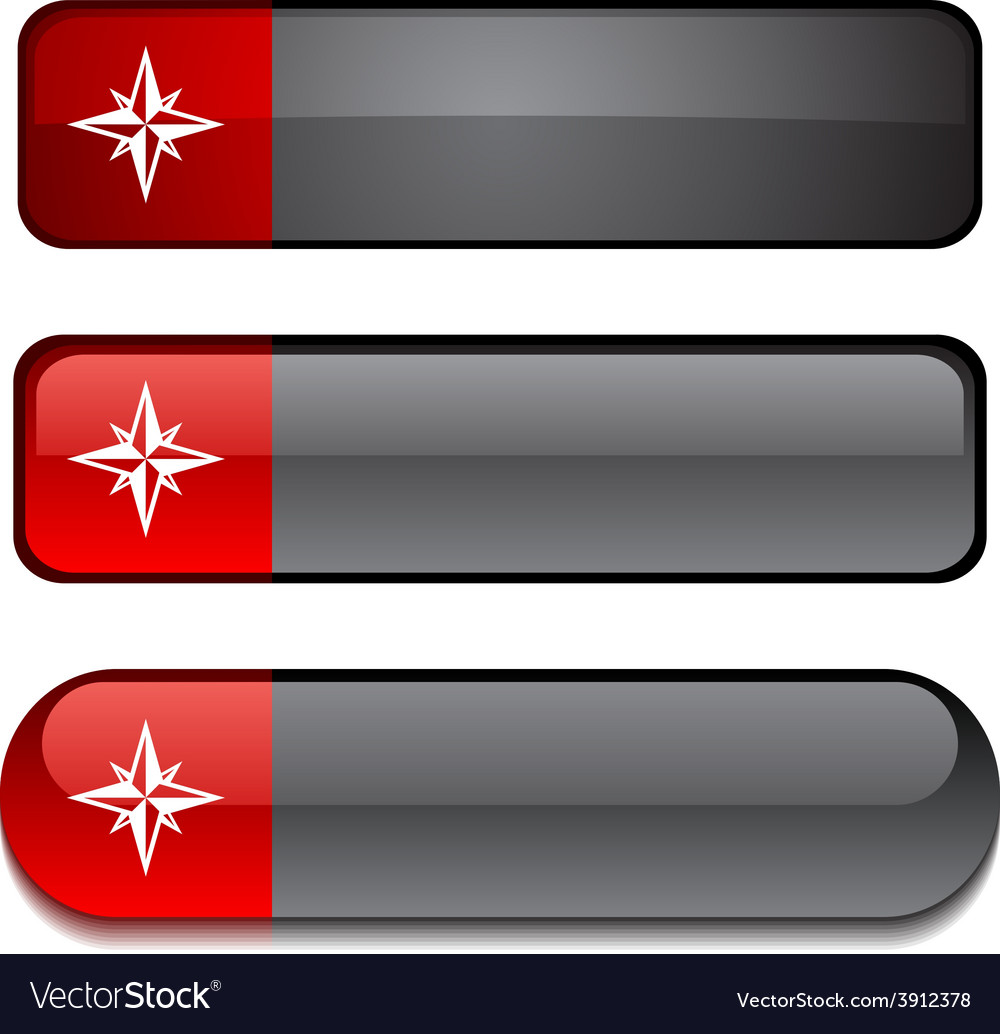 Compass button set vector   Price: 1 Credit (USD $1)