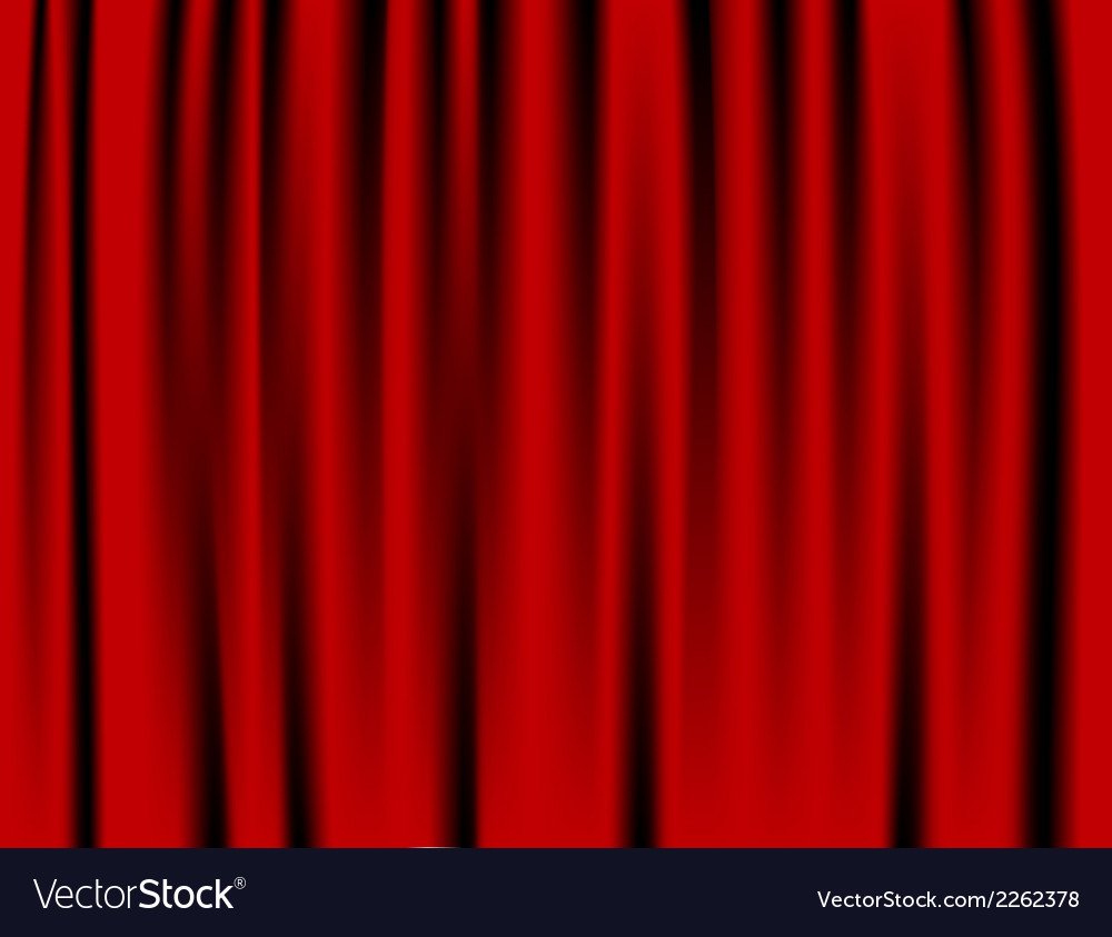 Luxury creases red curtain and many shadows vector | Price: 1 Credit (USD $1)