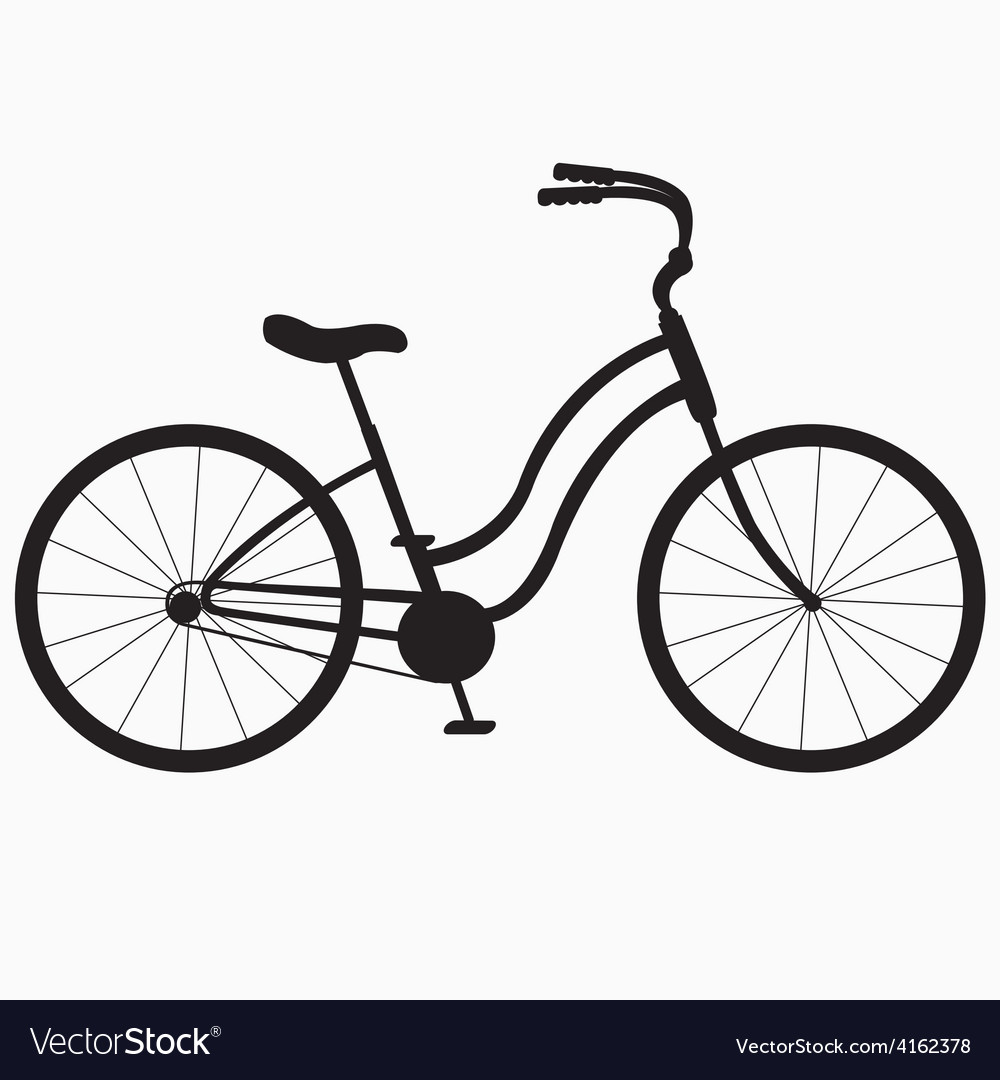 Silhouette bicycle vector | Price: 1 Credit (USD $1)