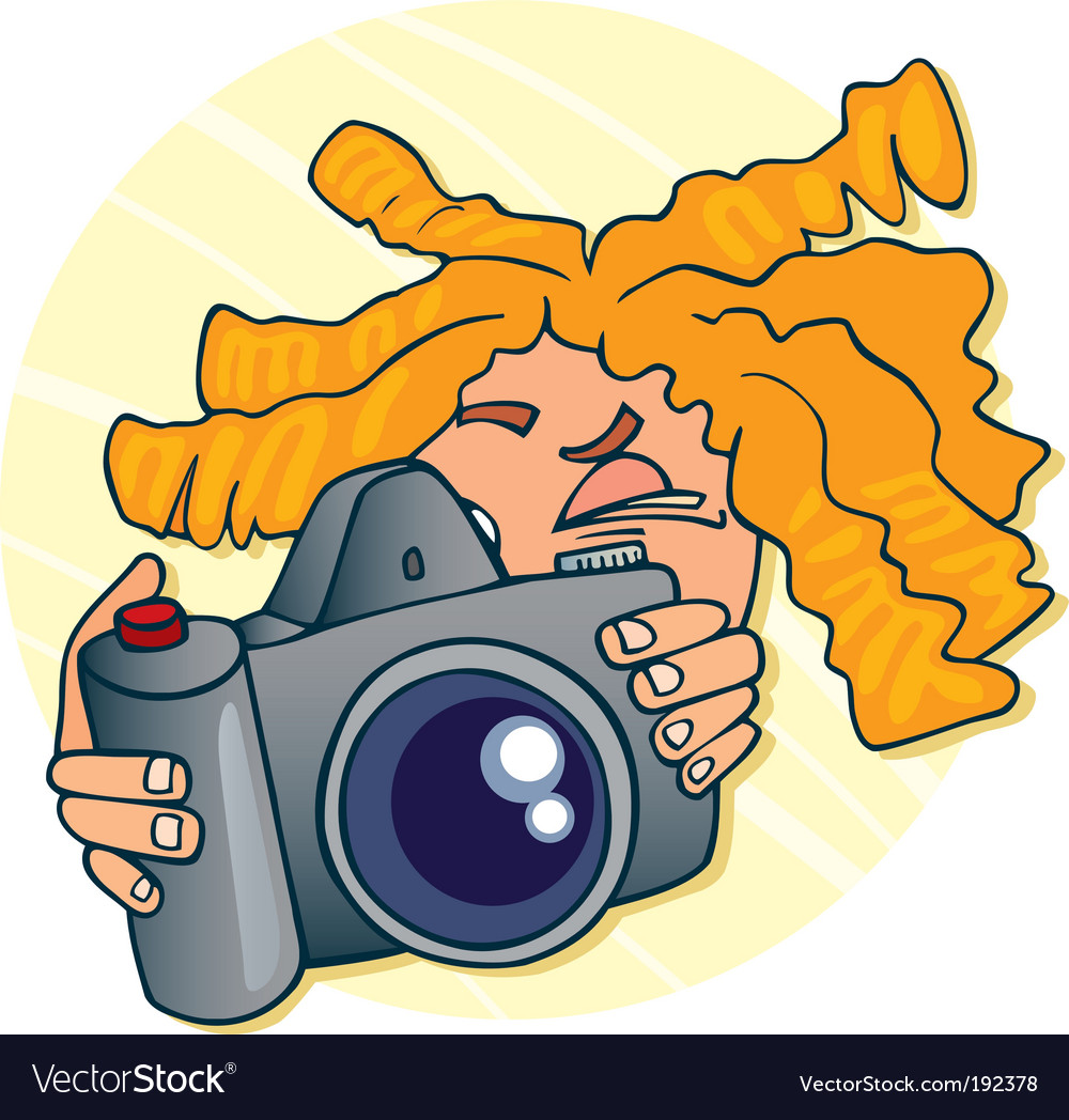 Young photographer vector | Price: 3 Credit (USD $3)