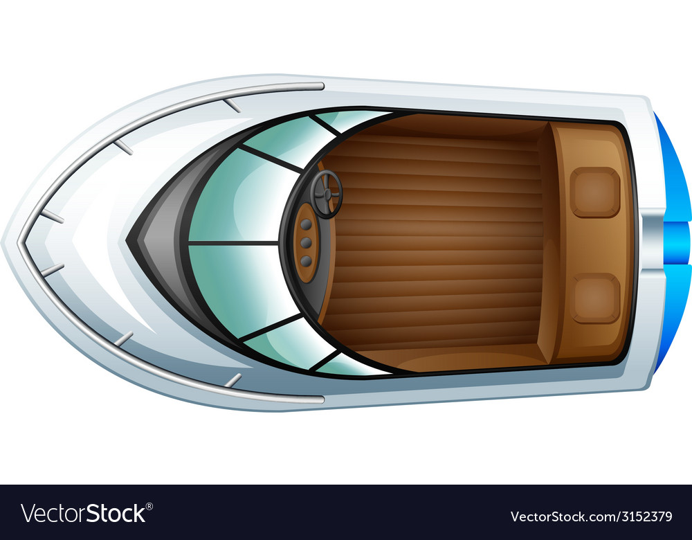 A topview of a boat vector | Price: 1 Credit (USD $1)