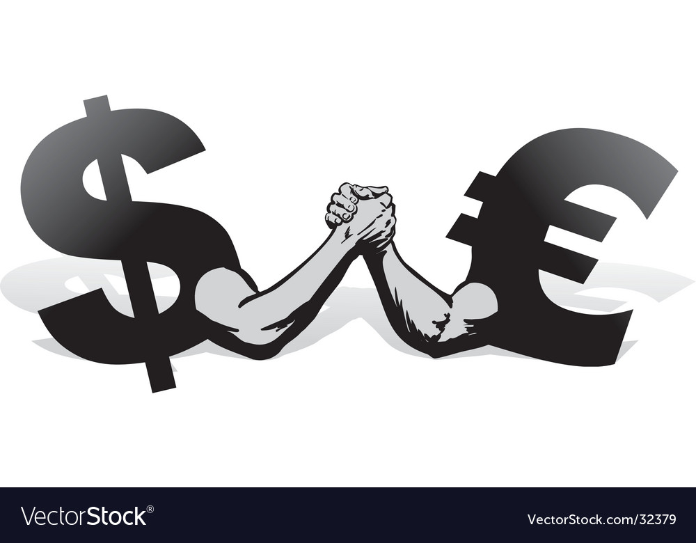 Arm wrestling money vector | Price: 1 Credit (USD $1)